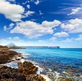 Javea Xabia Cala Blanca beach in Alicante Spain Royalty Free Stock Photo