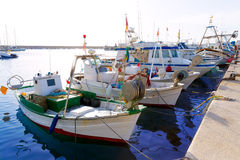 Javea Xabia fisherboats in port at Alicante Spain Stock Photography
