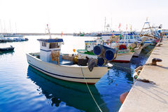 Javea Xabia fisherboats in port at Alicante Spain Stock Image