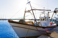 Javea Xabia fisherboats in port at Alicante Spain Royalty Free Stock Photo