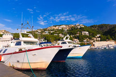 Javea Xabia fisherboats in port at Alicante Spain Royalty Free Stock Photos