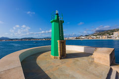 Javea Xabia green lighthouse beacon Alicante Spain Royalty Free Stock Image