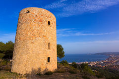 Javea Xabia Molins de la Plana old windmills Alicante Royalty Free Stock Photos