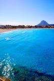 Javea Xabia Montgo nel Mediterraneo di Alicante Immagini Stock Libere da Diritti