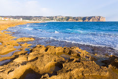 Javea Xabia Muntanyar beach Tosca stone Alicante Royalty Free Stock Photography