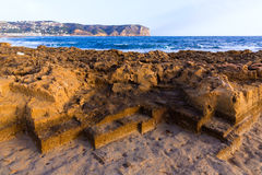Javea Xabia Muntanyar beach Tosca stone Alicante Royalty Free Stock Images