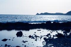 Javea Xabia Muntanyar beach Tosca stone Alicante Stock Photography