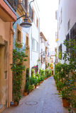 Javea Xabia old town streets in Alicante Spain Stock Images