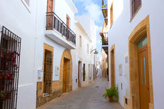 Javea Xabia old town streets in Alicante Spain. Javea Xabia old town Mediterranean streets in Alicante Spain Royalty Free Stock Images