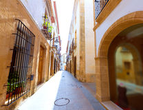 Javea Xabia old town streets in Alicante Spain Royalty Free Stock Photos