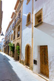 Javea Xabia old town streets in Alicante Spain Stock Photography