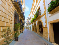 Javea Xabia old town streets in Alicante Spain Royalty Free Stock Image