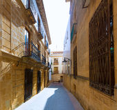 Javea Xabia old town streets in Alicante Spain Stock Photos
