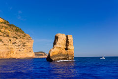 Javea Xabia Piedra la Nao in Mediterranean Spain Royalty Free Stock Photos