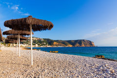 Javea Xabia playa Benissero Muntanyar in Alicante Royalty Free Stock Images