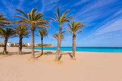 Javea Xabia playa del阿雷纳尔在地中海西班牙 库存照片