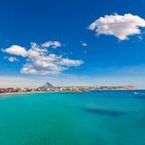 Javea Xabia playa del Arenal in Mediterranean Spain Royalty Free Stock Photography