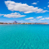 Javea Xabia playa del Arenal in Mediterranean Spain Stock Images