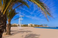 Javea Xabia playa del Arenal in Mediterranean Spain Royalty Free Stock Image