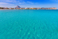 Javea Xabia playa del Arenal in Mediterranean Spain Royalty Free Stock Image