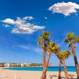 Javea Xabia playa del Arenal in Mediterranean Spain Royalty Free Stock Images