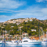 Javea Xabia port marina vacation destination in Alicante Royalty Free Stock Photos