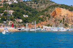 Javea Xabia port marina vacation destination in Alicante Royalty Free Stock Photography