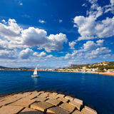 Javea Xabia skyline in Alicante Mediterranean Spain Royalty Free Stock Photography