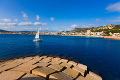 Javea Xabia skyline in Alicante Mediterranean Spain Royalty Free Stock Photos