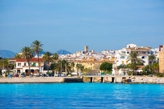 Javea Xabia skyline from Mediterranean sea Spain Royalty Free Stock Image