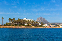 Javea Xabia skyline from Mediterranean sea Spain Stock Photo