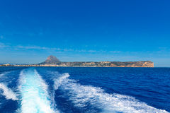 Javea Xabia skyline from Mediterranean sea Spain Royalty Free Stock Photo
