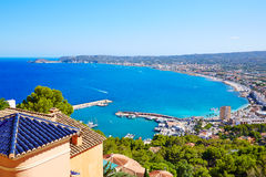 Javea Xabia village aerial in Mediterranean spain Stock Photos