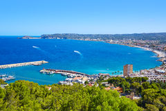 Javea Xabia village aerial in Mediterranean spain Stock Photo