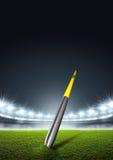 Javelin In Generic Floodlit Stadium Stock Images