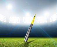 Javelin In Generic Floodlit Stadium Royalty Free Stock Photography