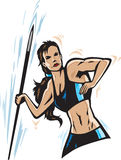 Javelin girl Stock Photography