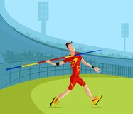 Javelin Player Stock Image