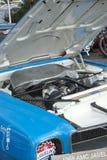 Javelin race car engine bay close up. Close view of javelin race car engine in display during the U.S vintage grand prix at watkins glen international sept 8-11 stock photos