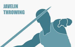 Javelin throw royalty free illustration