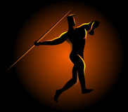 Javelin throw athlete Royalty Free Stock Photography