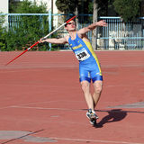 Javelin throw competition Stock Image