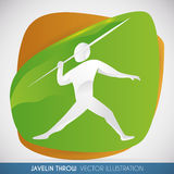 Javelin Throw Design with a Athlete Ready to Throw the Spear, Vector Illustration Stock Images