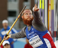 Javelin throw man athlete canada Royalty Free Stock Photography
