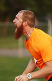 Javelin Throw Man Athlete Yell Stock Images