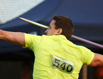 Javelin Throw Man Competitor Royalty Free Stock Photos