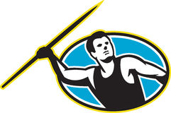 Javelin Throw Track and Field Athlete Royalty Free Stock Photo