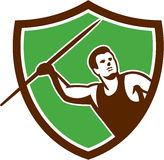 Javelin Throw Track and Field Athlete Shield Royalty Free Stock Photos