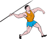 Javelin Throw Track and Field Cartoon Royalty Free Stock Photo