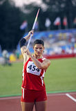 Javelin throw women latvia muze Stock Photo